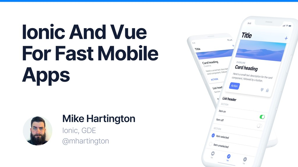 Ionic And Vue