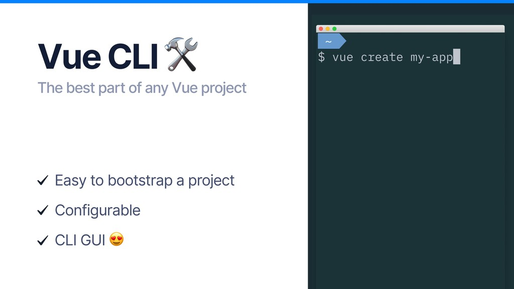 Vue CLI  The best part of any Vue project Easy ...