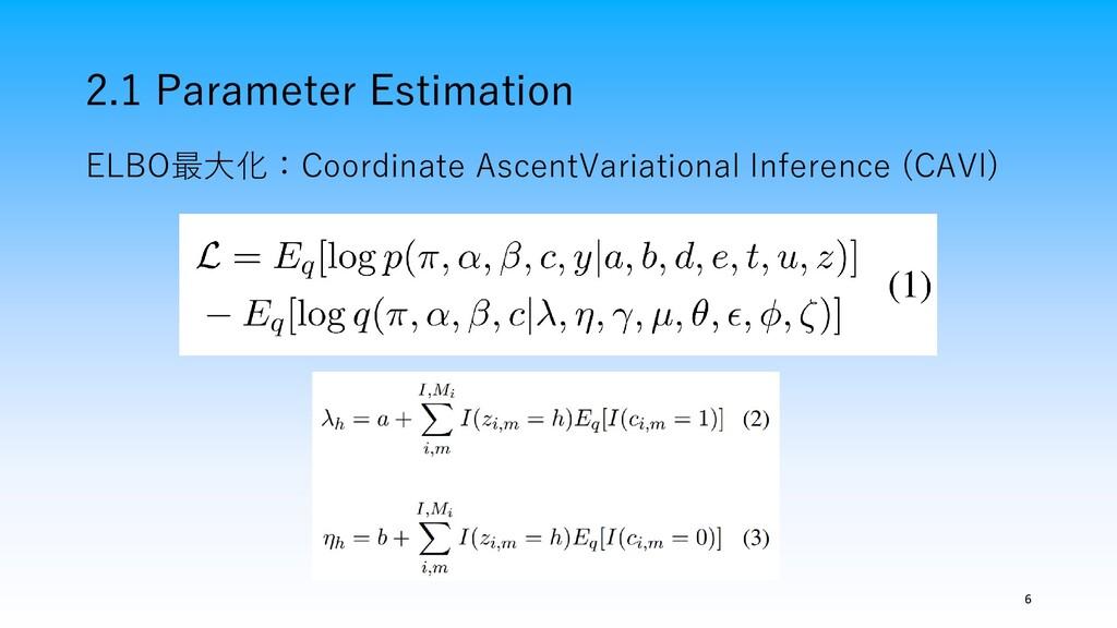 2.1 Parameter Estimation 6 ELBO最大化:Coordinate A...