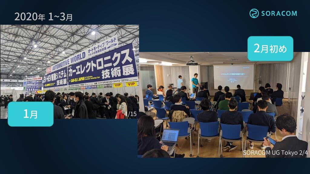 2020年 1~3月 1/15 SORACOM UG Tokyo 2/4 1月 2月初め