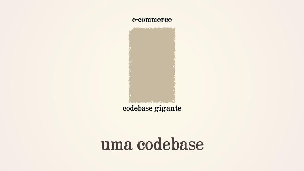 uma codebase codebase gigante e-commerce