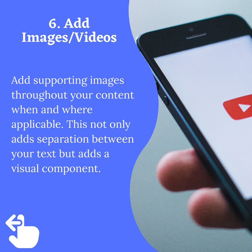 Add supporting images throughout your content w...