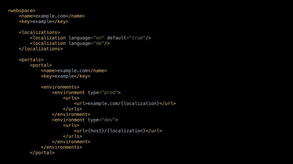 <webspace> <name>example.com</name> <key>exampl...