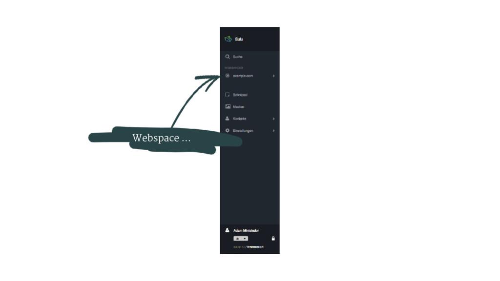 Webspace ... ….