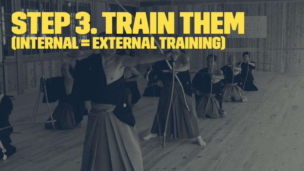 Step 3. Train them (Internal = External Trainin...