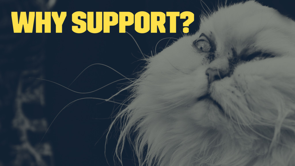Why support?