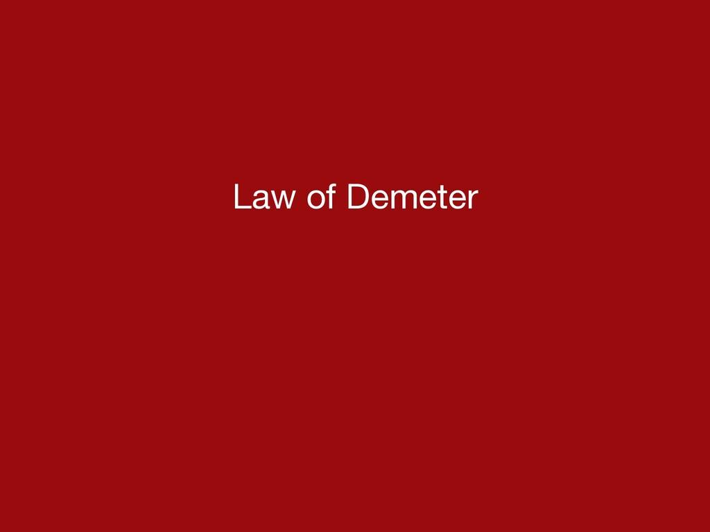 Law of Demeter