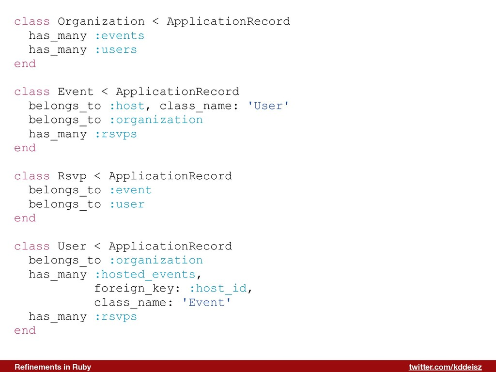 twitter.com/kddeisz Refinements in Ruby class Or...