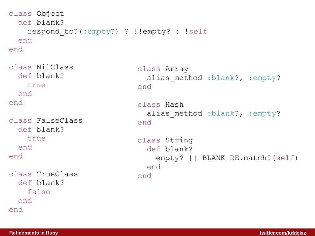 twitter.com/kddeisz Refinements in Ruby class Ob...