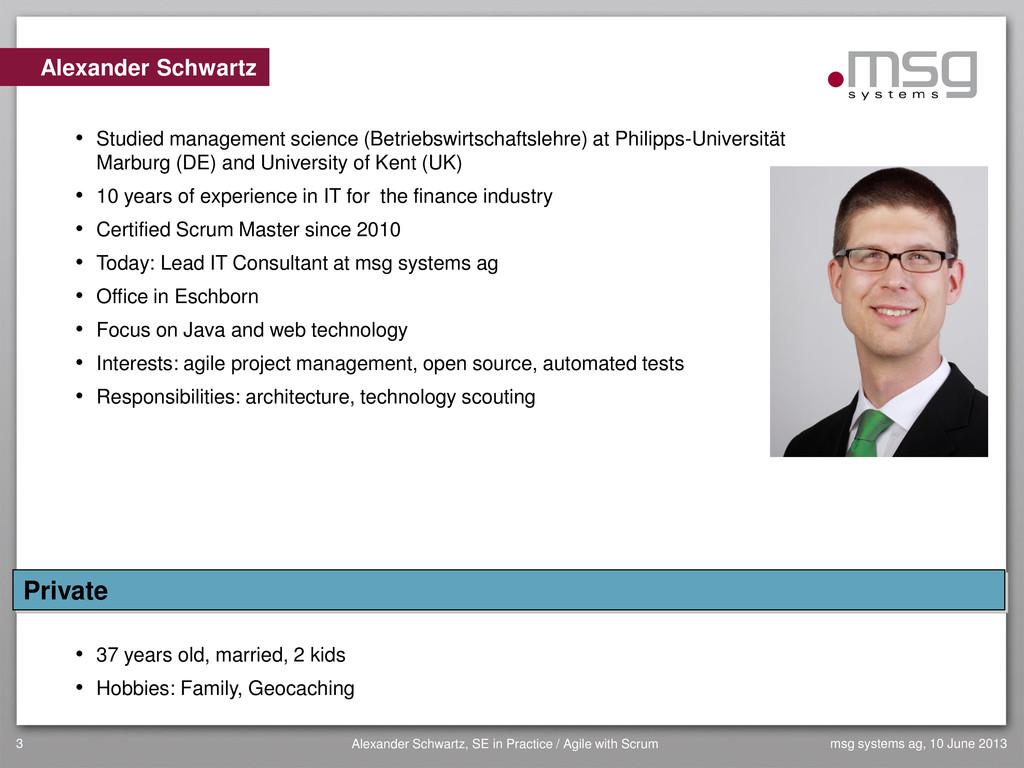 3 Alexander Schwartz, SE in Practice / Agile wi...