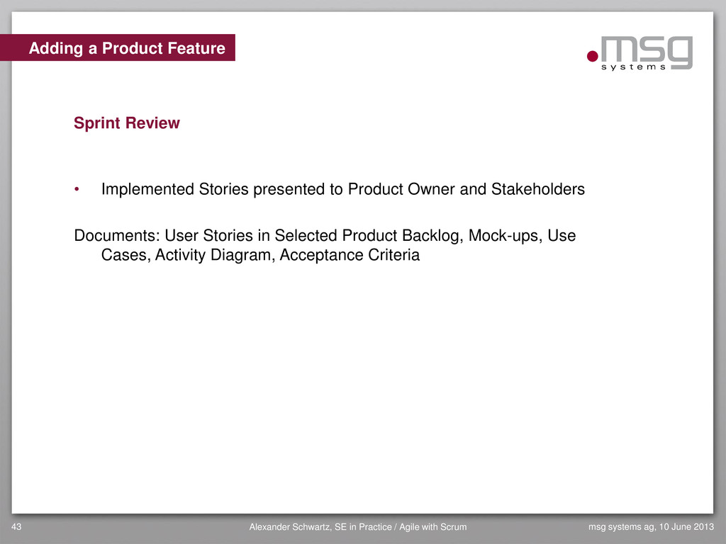 Adding a Product Feature Sprint Review • Implem...