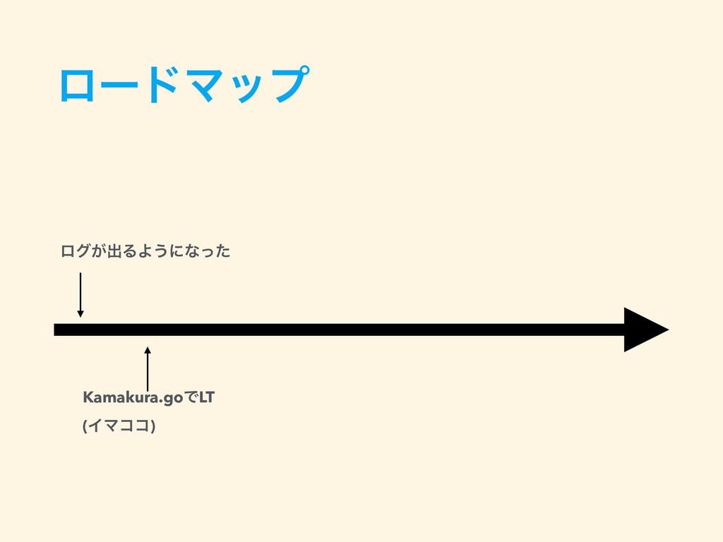 ϩʔυϚοϓ ϩά͕ग़ΔΑ͏ʹͳͬͨ Kamakura.goͰLT (ΠϚίί)