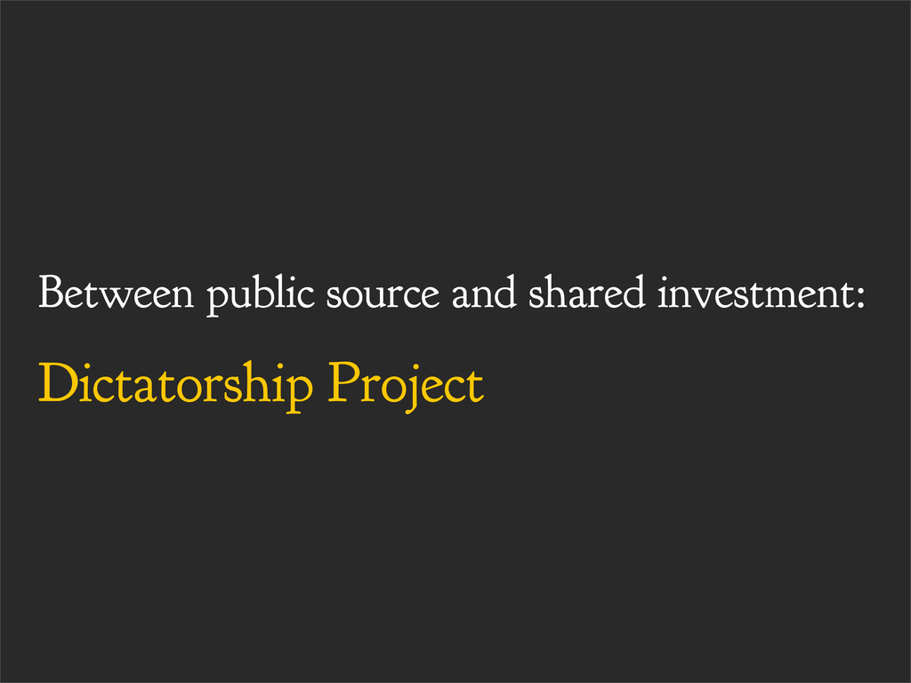 Between public source and shared investment: Di...