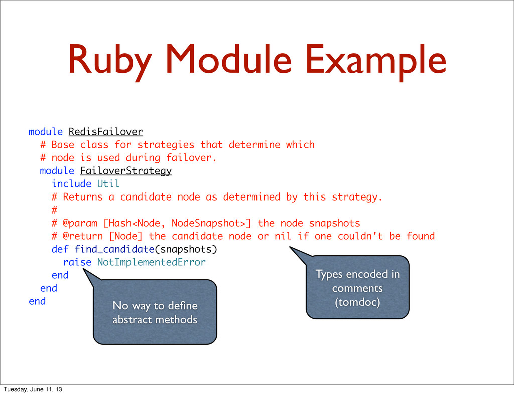 Ruby Module Example module RedisFailover # Base...