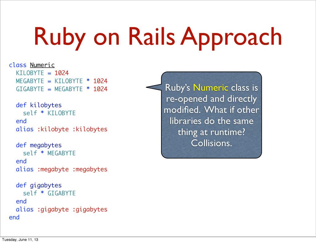 Ruby on Rails Approach class Numeric KILOBYTE =...