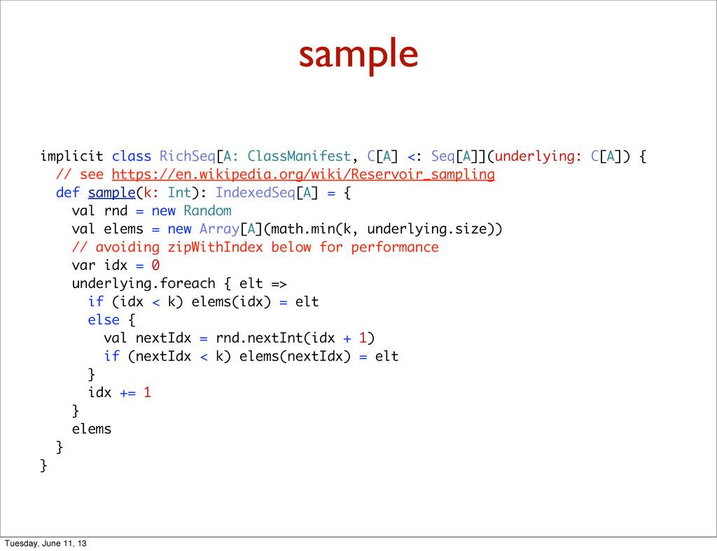 sample implicit class RichSeq[A: ClassManifest,...