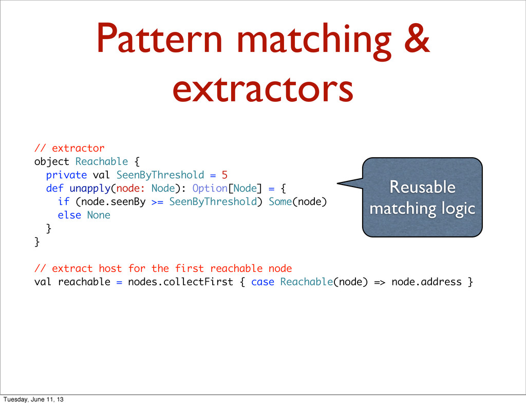 Pattern matching & extractors // extractor obje...