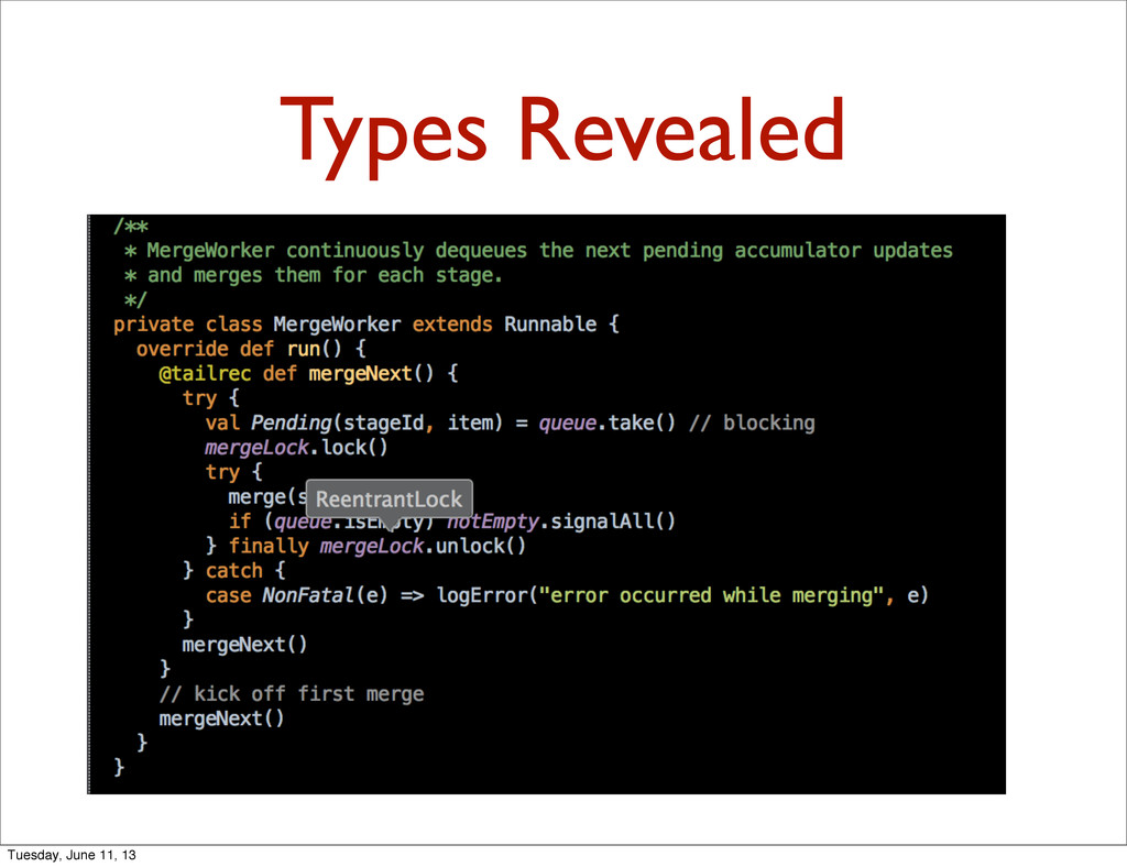 Types Revealed Tuesday, June 11, 13