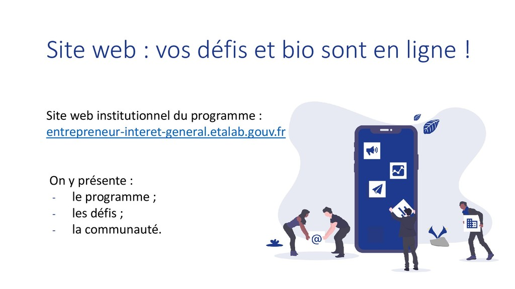 Site web institutionnel du programme : entrepre...