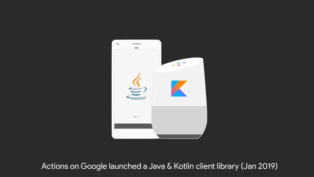 Actions on Google launched a Java & Kotlin clie...