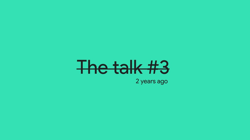 The talk #3 2 years ago