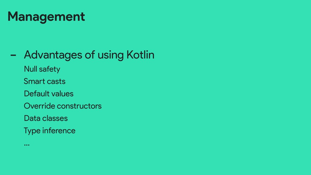 Management - Advantages of using Kotlin Null sa...