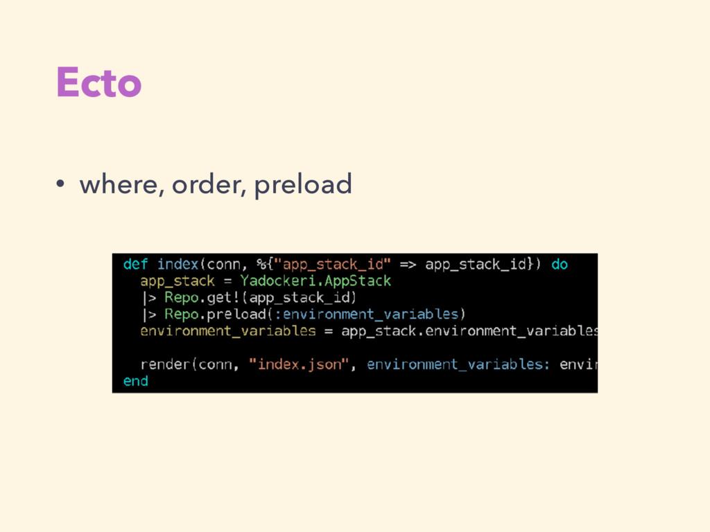 Ecto • where, order, preload