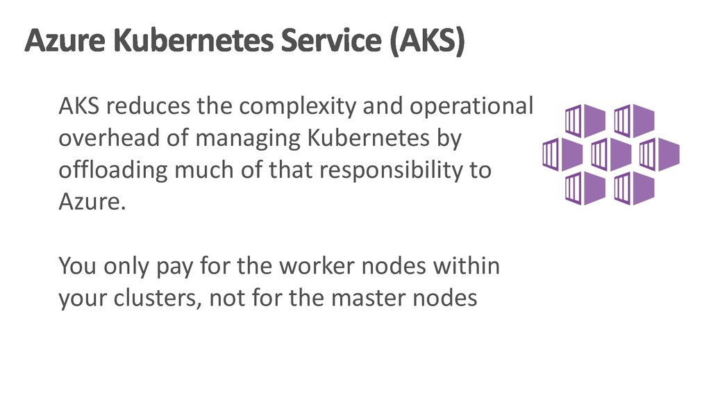 AKS reduces the complexity and operational over...