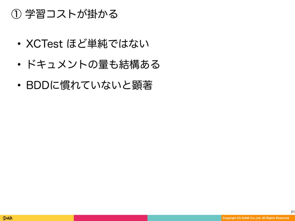 ᶃֶशίετֻ͕͔Δ 21 Copyright (C) DeNA Co.,Ltd. All ...