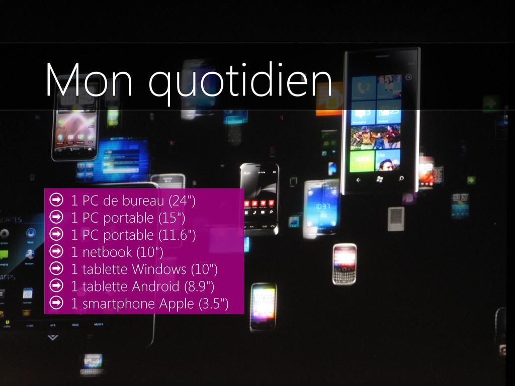 """1 PC de bureau (24"""") 1 PC portable (15"""") 1 PC p..."""