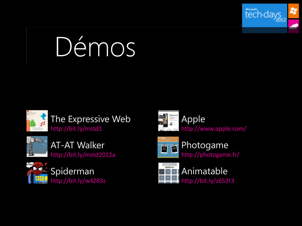Démos Apple http://www.apple.com/ The Expressiv...