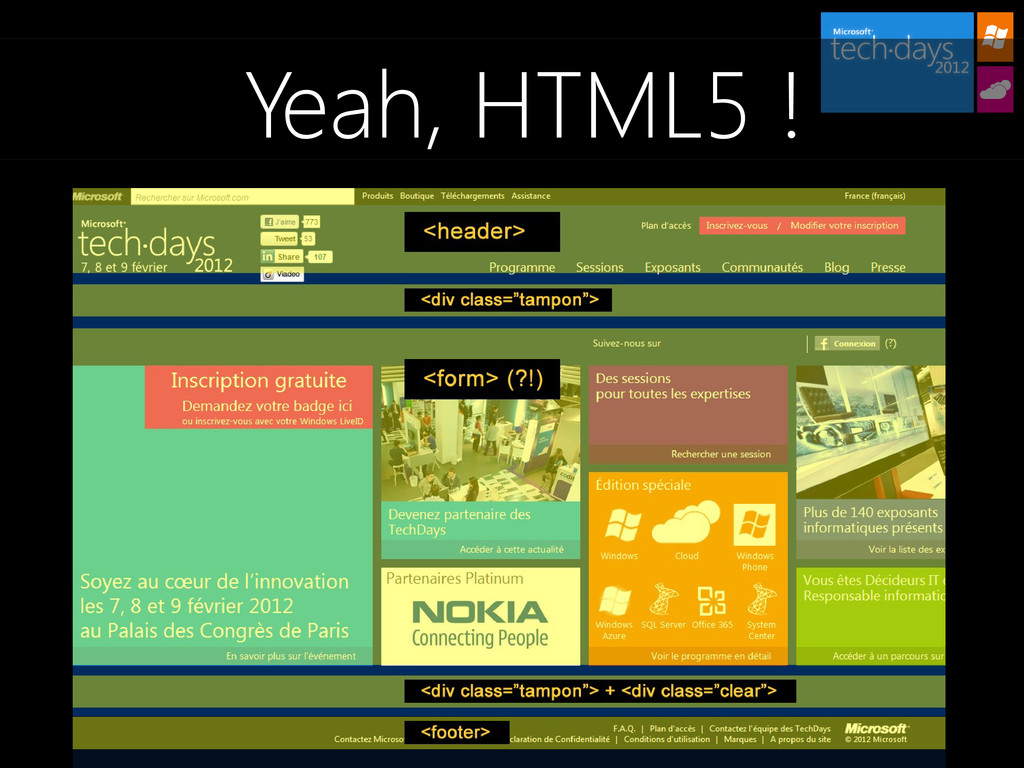 Yeah, HTML5 !