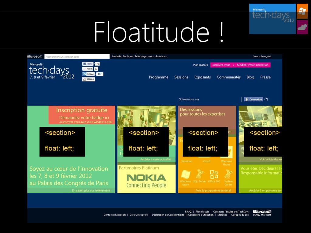 Floatitude !