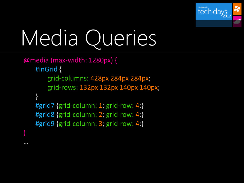 Media Queries @media (max-width: 1280px) { #inG...