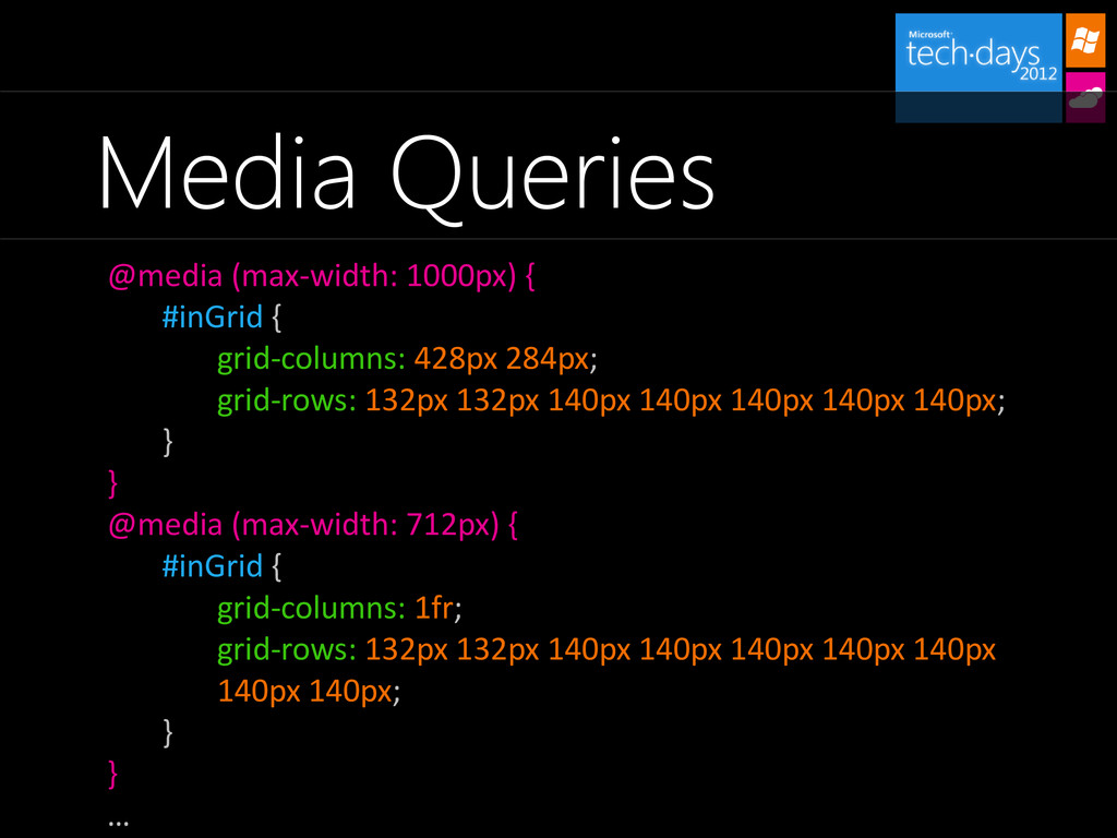 Media Queries @media (max-width: 1000px) { #inG...