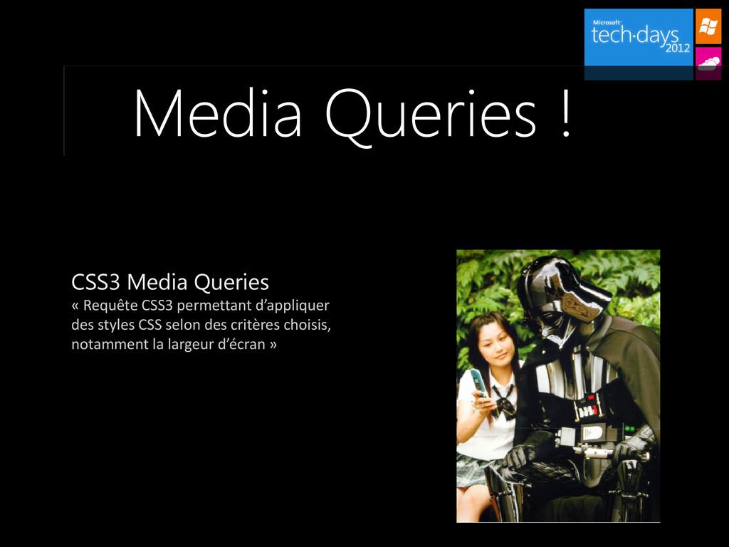 Media Queries ! CSS3 Media Queries « Requête CS...