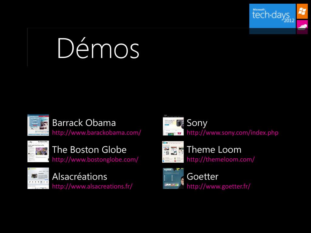 Démos Sony http://www.sony.com/index.php Barrac...