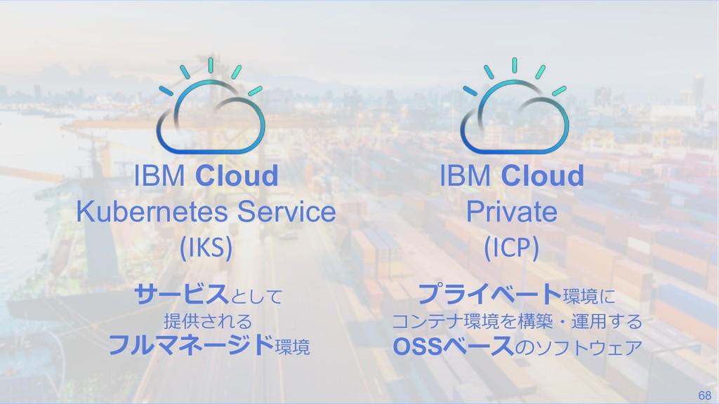 68 IBM Cloud Kubernetes Service (IKS) IBM Cloud...