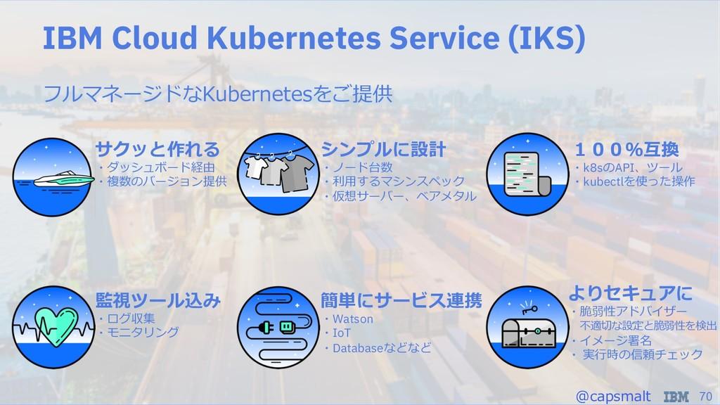 70 IBM Cloud Kubernetes Service (IKS) r  ...