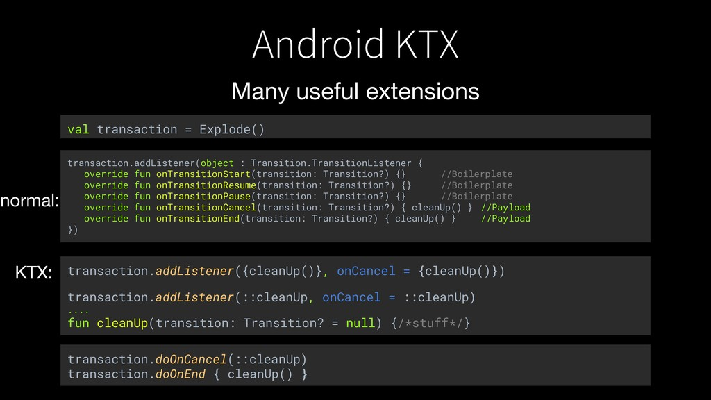 Android KTX Many useful extensions transaction....