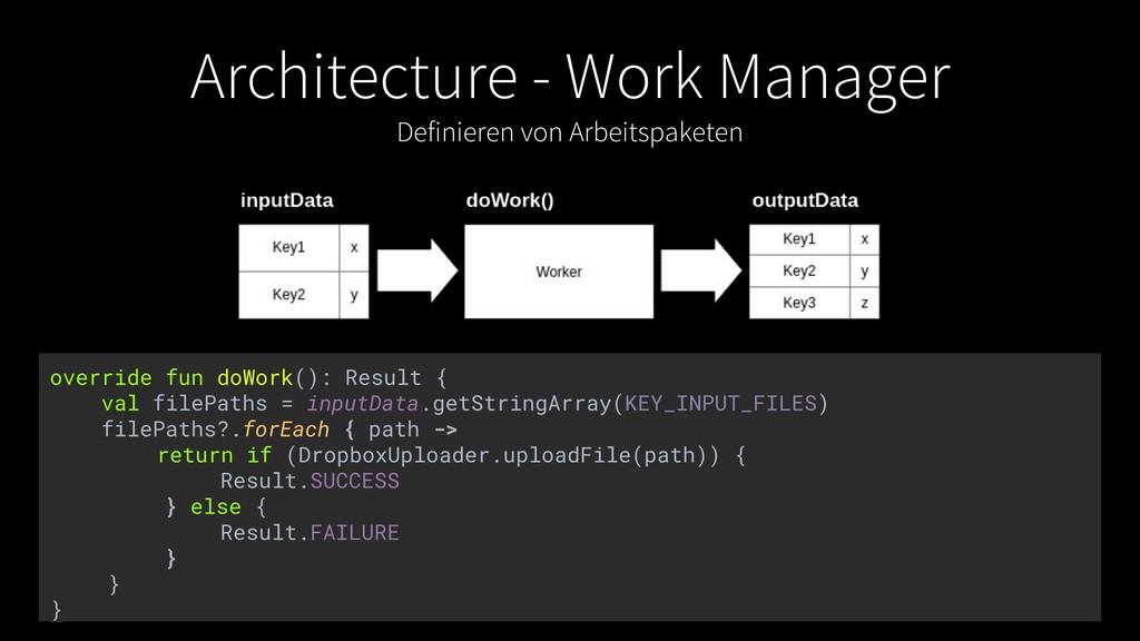 Architecture - Work Manager Definieren von Arbe...