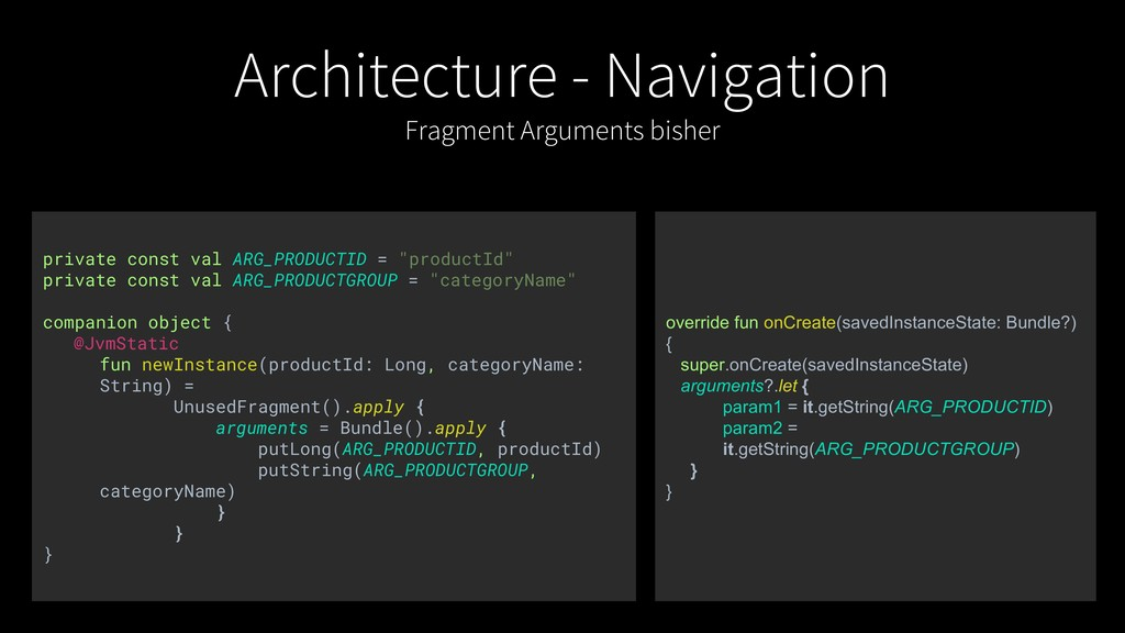 Architecture - Navigation Fragment Arguments bi...