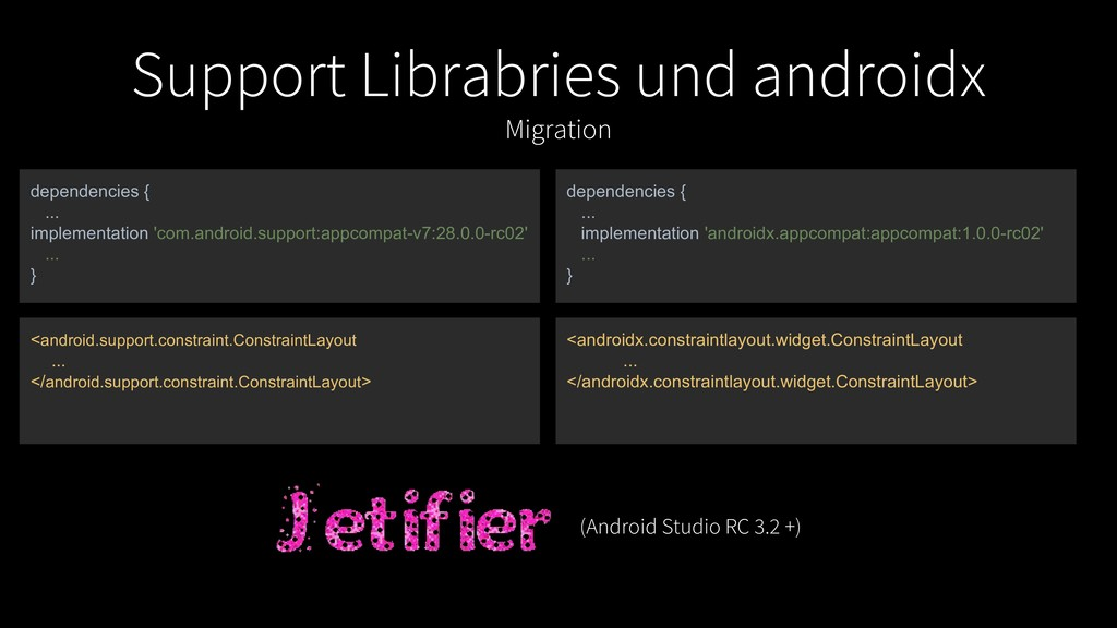 Support Librabries und androidx Migration depen...