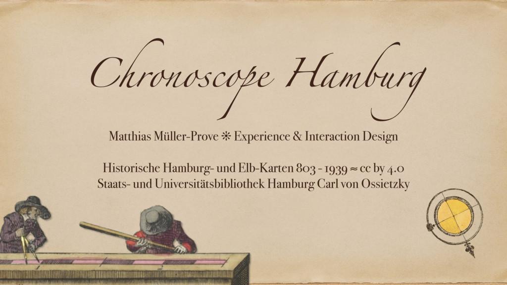 Chronoscope Hamburg Matthias Müller-Prove ❊ Exp...