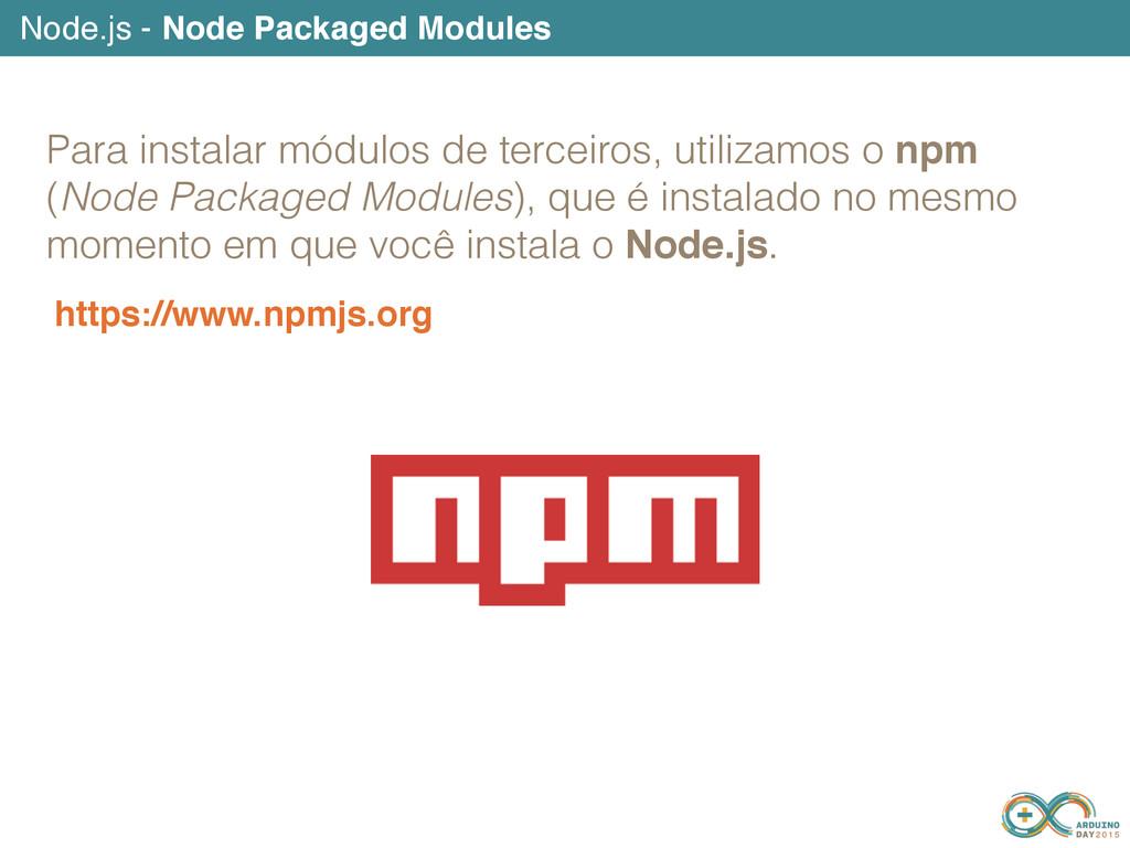 https://www.npmjs.org Node.js - Node Packaged M...