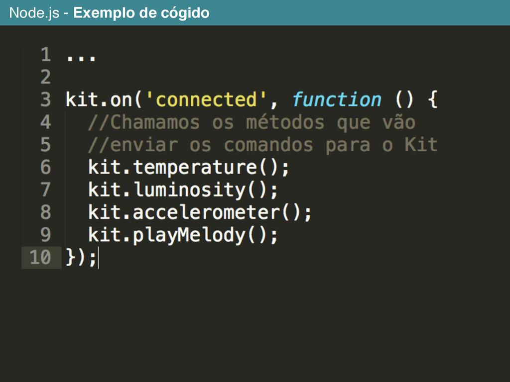 Node.js - Exemplo de cógido
