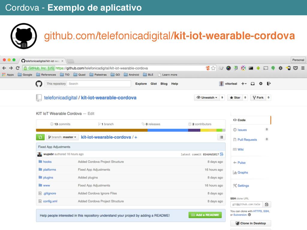 Cordova - Exemplo de aplicativo github.com/tele...
