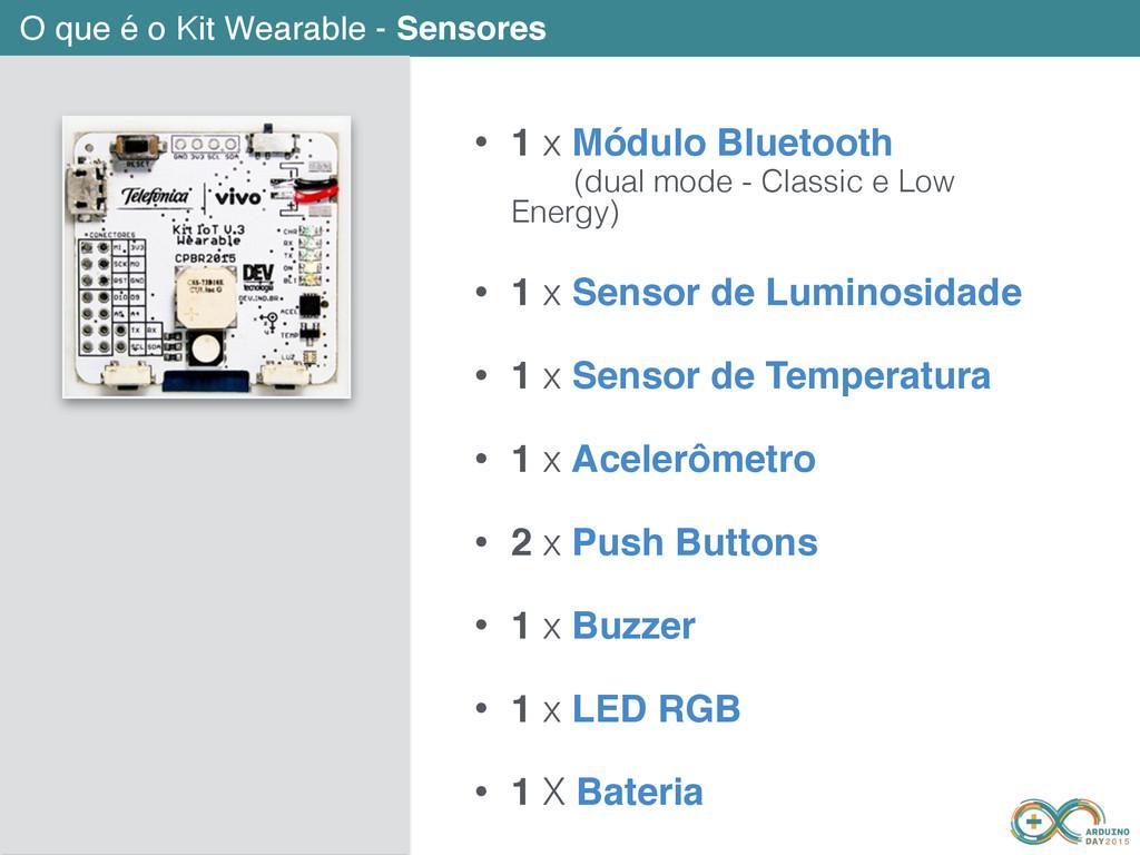 O que é o Kit Wearable - Sensores • 1 x Módulo ...