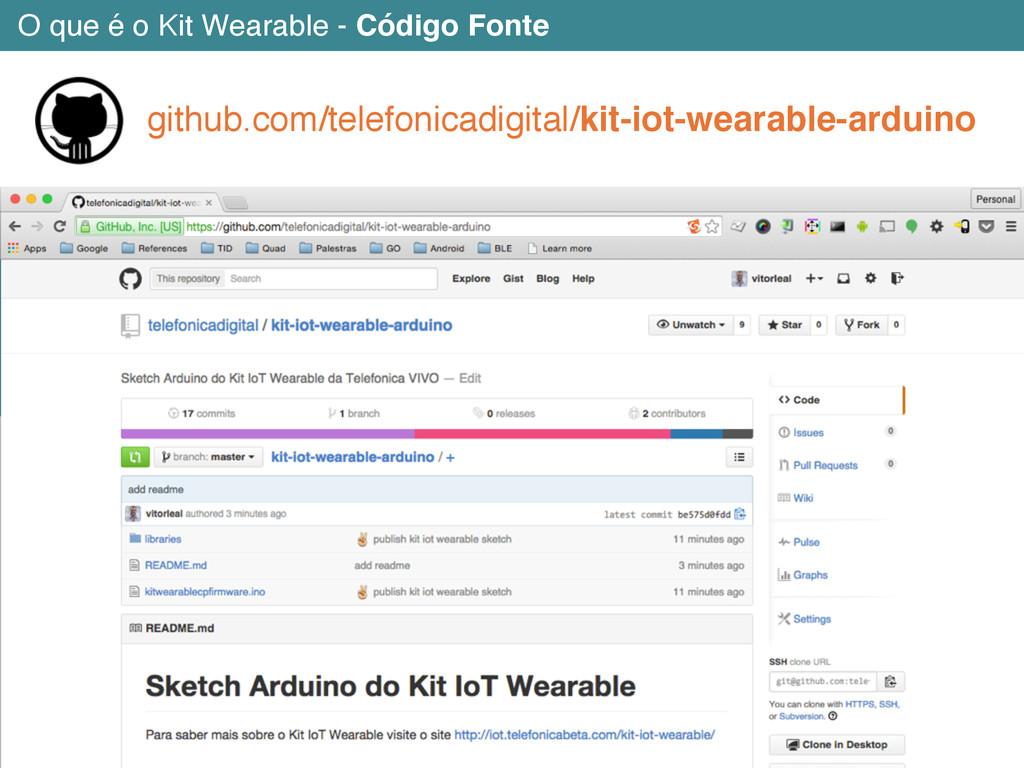 O que é o Kit Wearable - Código Fonte github.co...