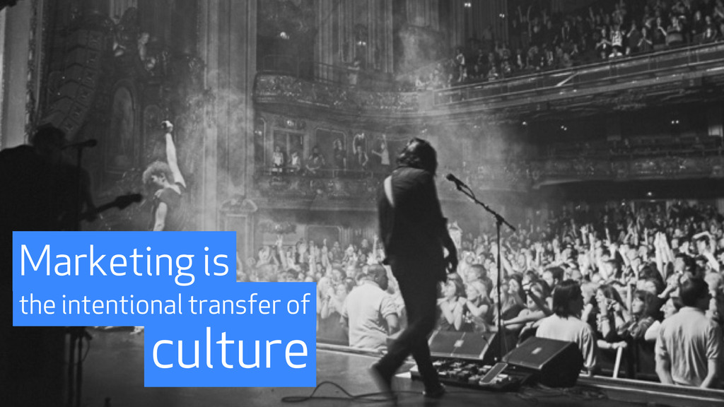 culture the intentional transfer of Marketing is